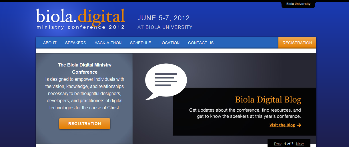 The Biola Digital Ministry Conference